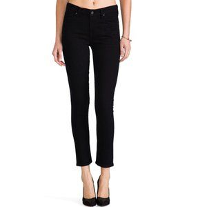 COH Mid-Rise Straight Leg Crop Jeans- Faded Black